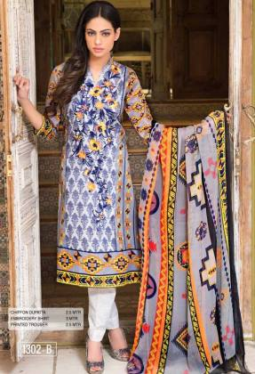 Irma Embroidered Designer Lawn By Rashid Textiles 2016