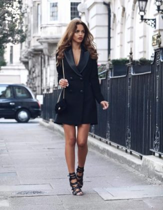 Tuxedo Dress Trend For Summer Season Women Clothing Ideas