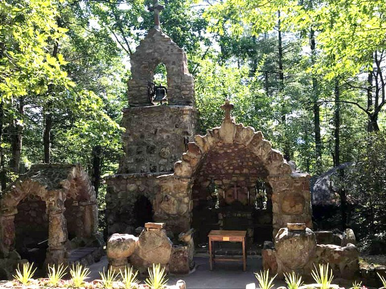 The Episcopal Diocese of Virginia's official cathedral is this beautiful outdoor shrine,  The Cathedral Shrine of the Transfiguration , at an outdoor retreat and summer camp center called Shrine Mont in Orkney Springs, VA (my favorite place in the world).