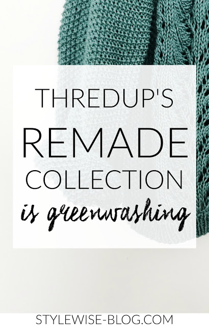 Thredup's Remade line is greenwashing and unethical stylewise-blog.com