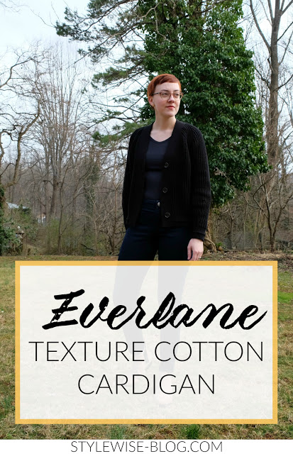 everlane texture cotton cardigan review stylewise-blog.com