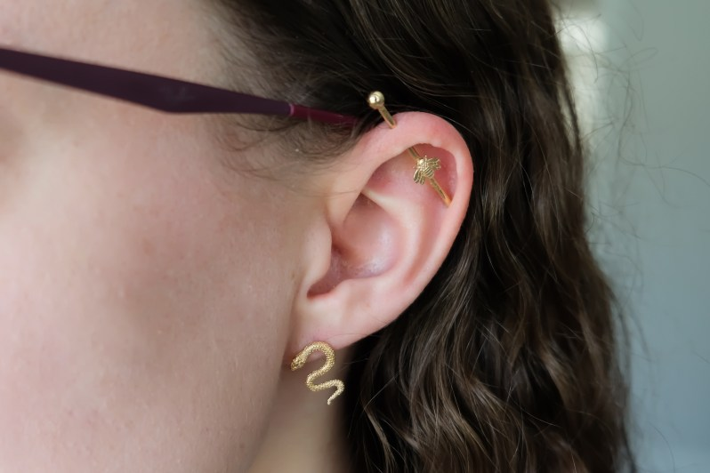 Ana Luisa sustainable recycled gold jewelry - snake earrings