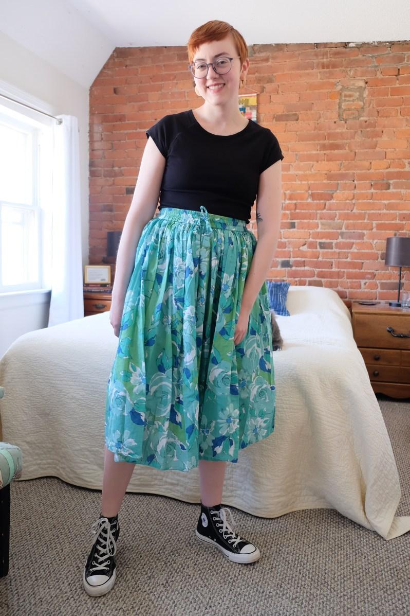 pinterest inspired vintage skirt