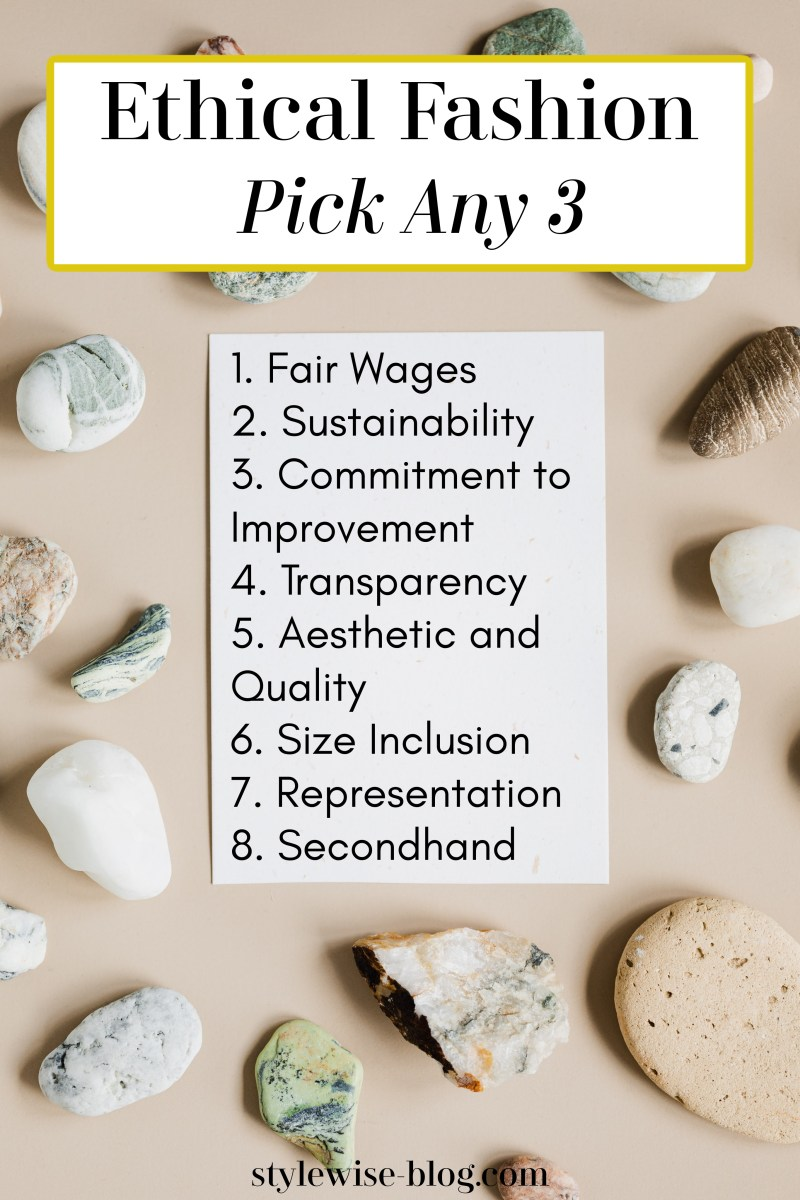 rule of 3 for ethical fashion