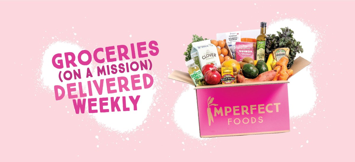 Imperfect Foods unsponsored review for low income family - buying groceries online