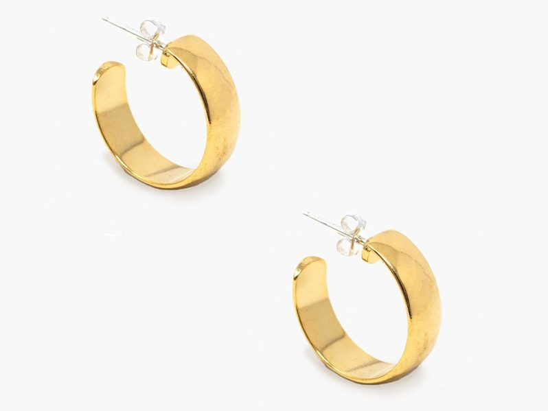 sustainable small hoop earrings