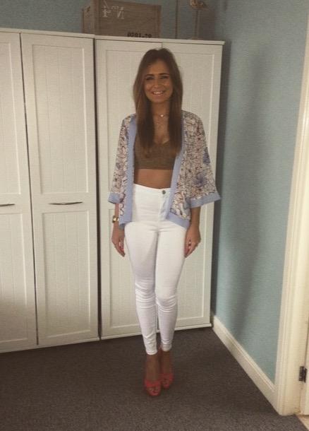 fashion blog, kimono, neutrals, white jeans