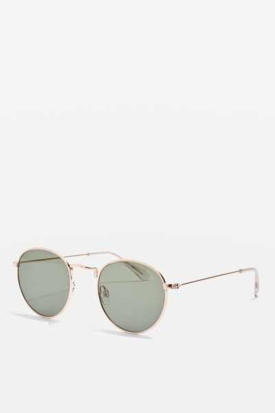 Topshop Metro Flat Lens Sunglasses