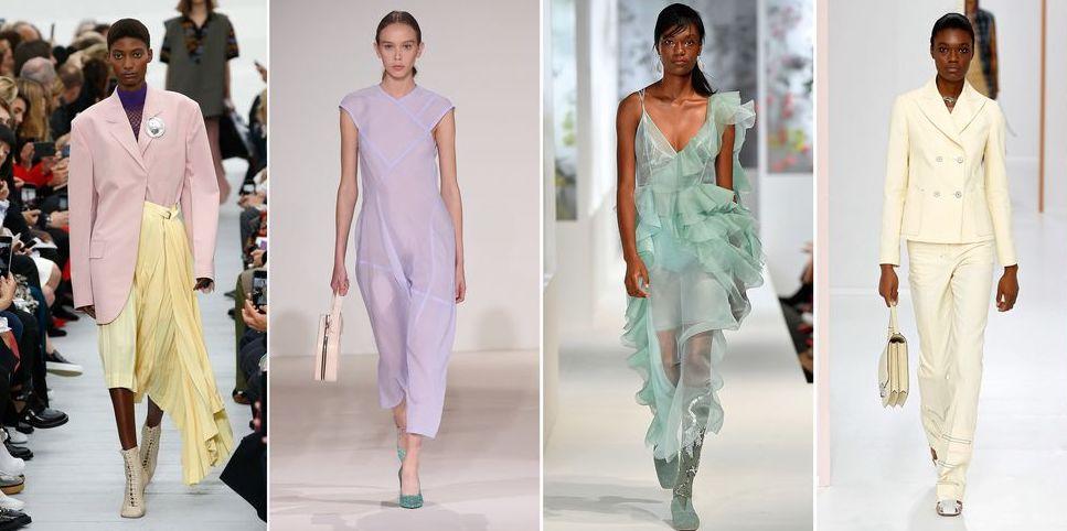 runway, spring summer fashion, pastels
