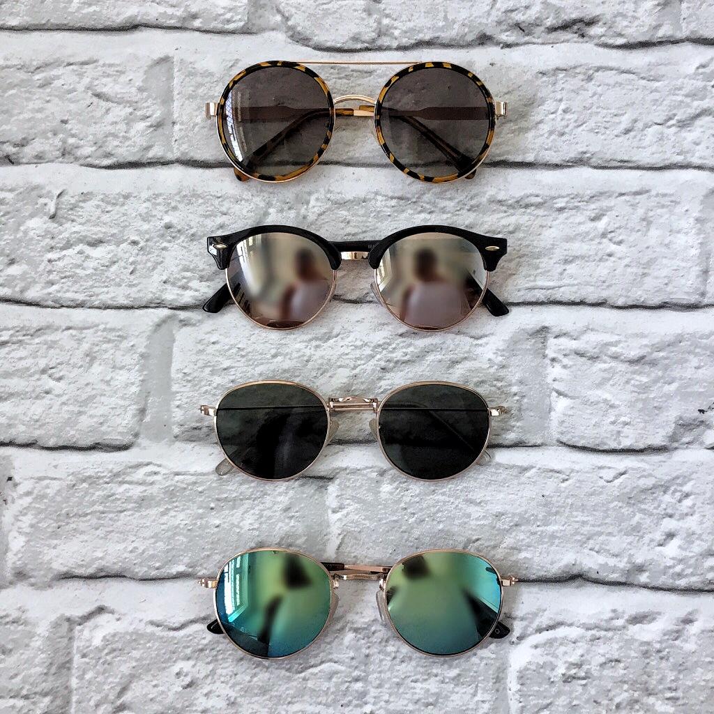 round aviator, clubmaster, round sunglasses, mirror lens, rayban dupes