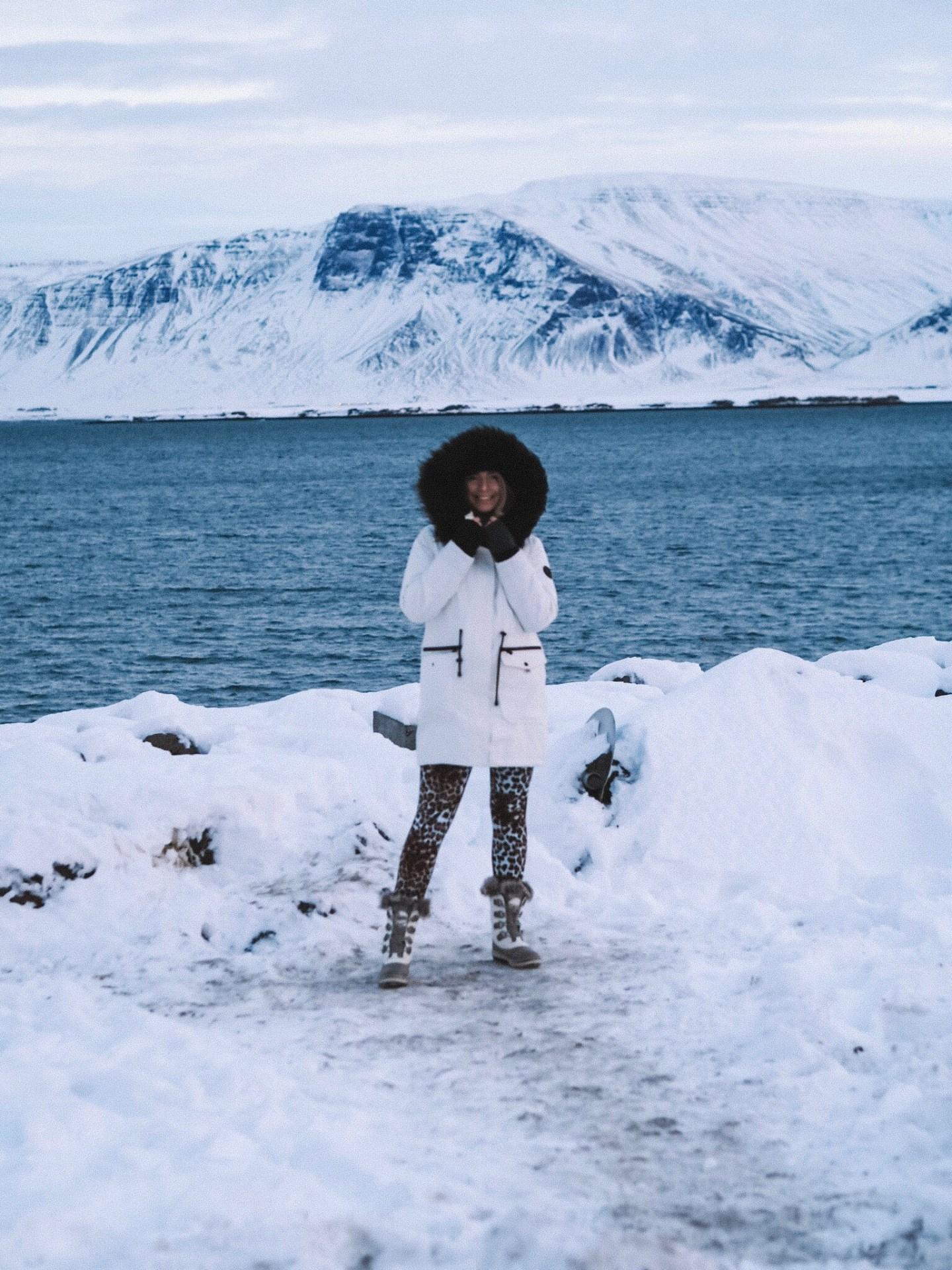 fashion blogger, iceland, snow, reykjavik