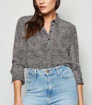 White Leopard Print Shirt