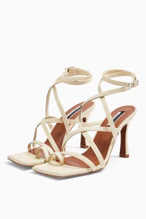 Leather Buttermilk Toe Loop Sandals