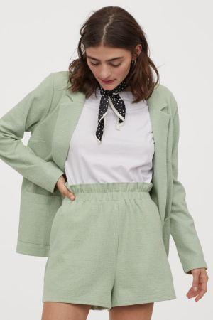 Light Green Paper Bag Shorts