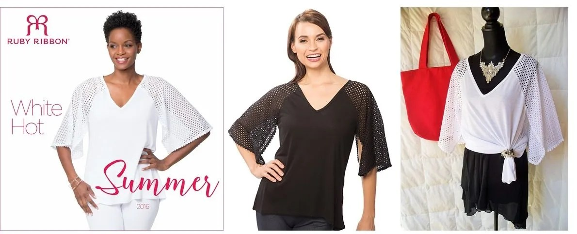 mesh sleeve tunic
