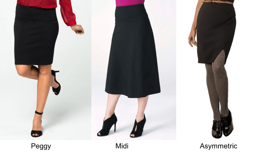 Now let's add in a skirt — a work wardrobe series