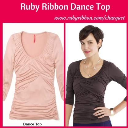 Ruby Ribbon Dance Top