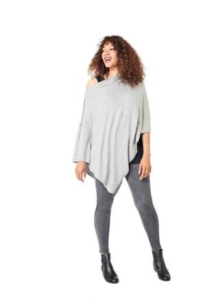 lux shawl gray suedette