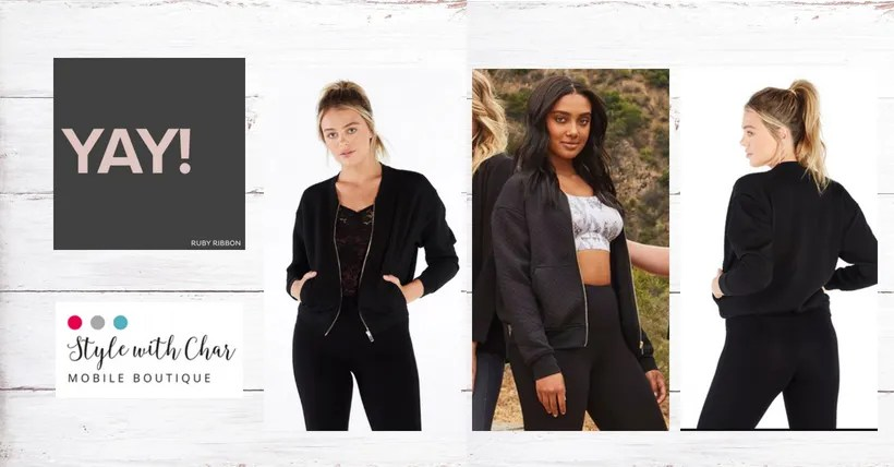 Classic Bomber Jacket styling delivers Fall fashion vibe