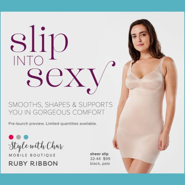 Ruby Ribbon Sheer Slip