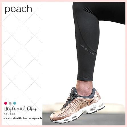 Branding on Peach Signature Legging