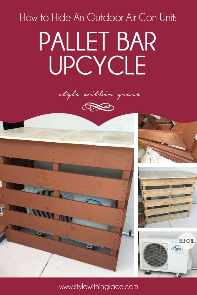 How to Hide an Ugly Outdoor Air Con Unit: Pallet Bar Upcycle DIY