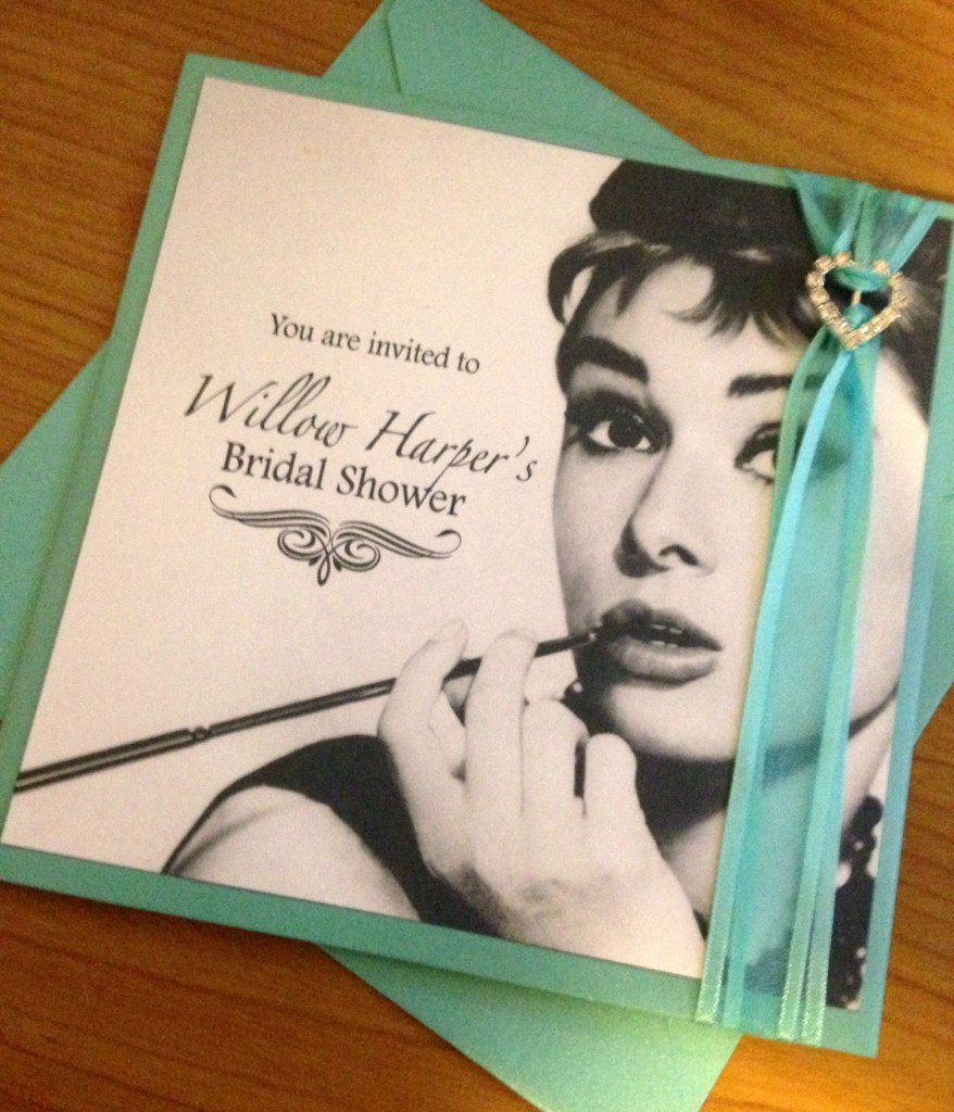 Breakfast at Tiffany's Bridal Shower Invites 1