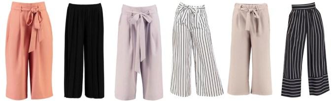 Summer Wardrobe Essentials - Culottes, Palazzo or Wide Leg Pants