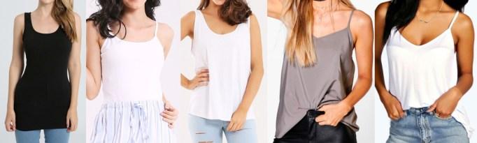 Summer Wardrobe Essentials - Tank Tops or Singlets