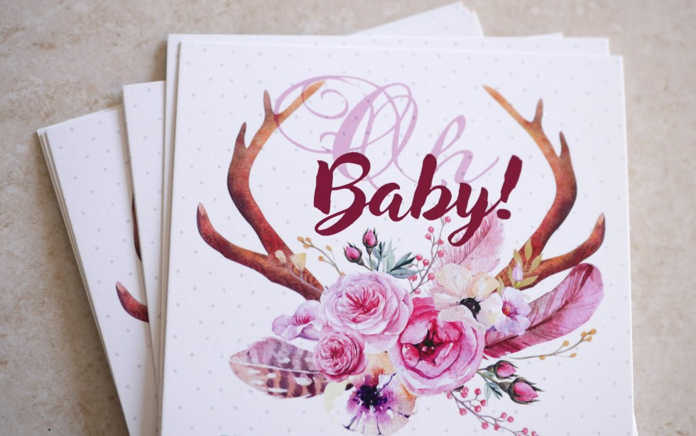 Oh Baby Spring Floral Baby Shower Invites