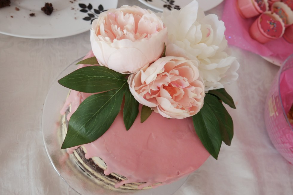 Naked Floral Drip Baby Shower Cake 3