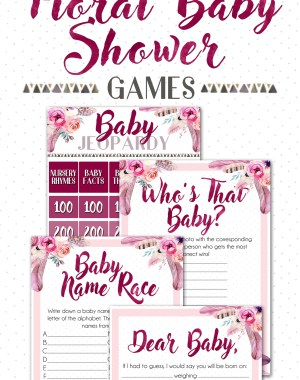 Floral Baby Shower Games