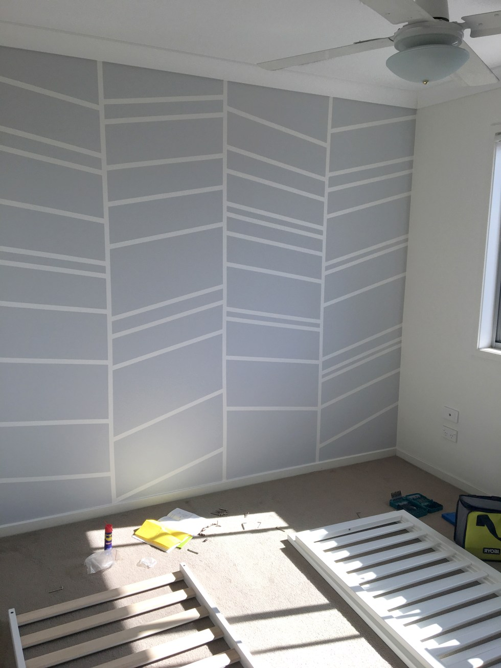 Nursery Feature Wall After