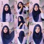Stylish Loose Square Hijab Tutorial 2016