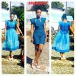 simple and elegant shweshwe dresses 2016 2017