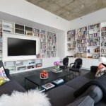 living room library designs 2017