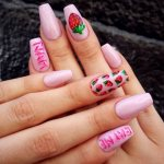Awesome Strawberry Nail Art 2017
