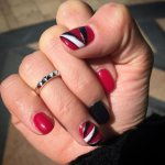 red nail art designs 2017
