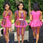 peplum african wear dresses