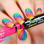 super rainbow nail art styles 2017