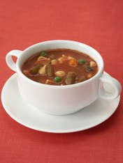 1 cup lowfat, low-sodium vegetable soup