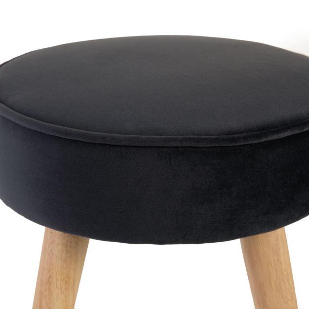 tabouret noir velours