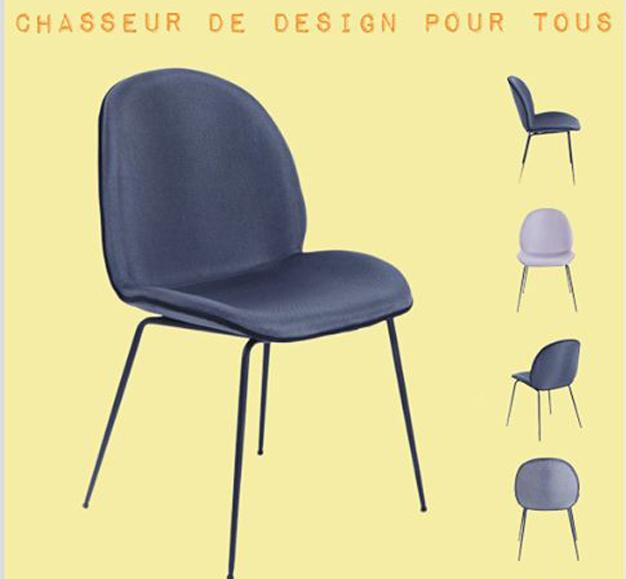 chaise beetle 3 gris