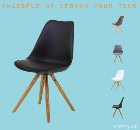 chaise design assise rembourrée couleurs