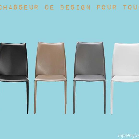 chaise classique en cuir couleurs