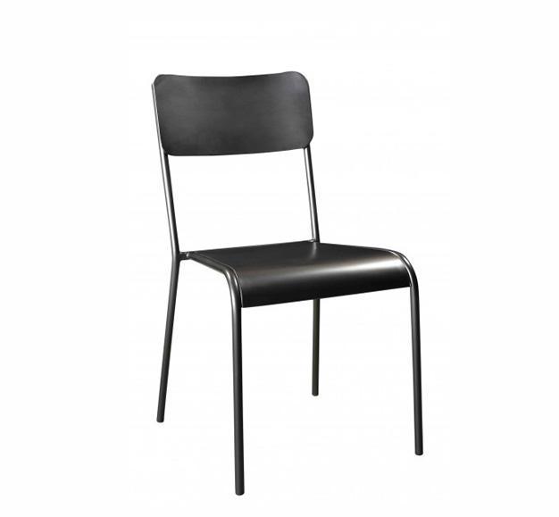 chaise écolier rustik noire mate