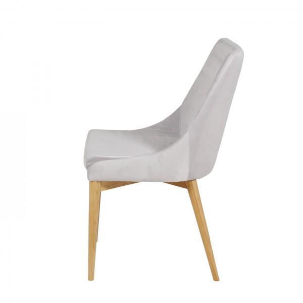 chaise en velours pieds en bois
