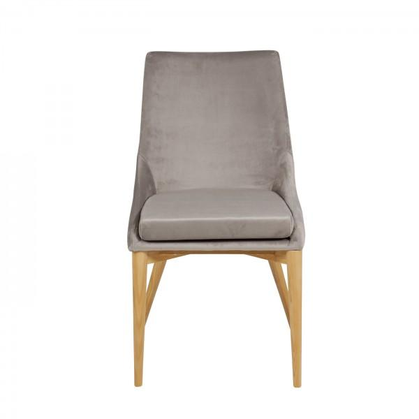 chaise velours gris