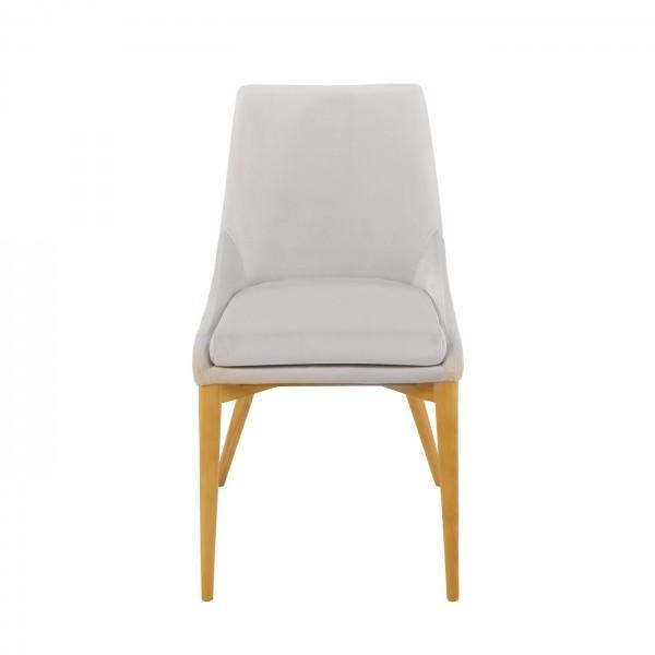 chaise velours confort blanc gris