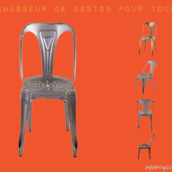 chaise multipls style industriel